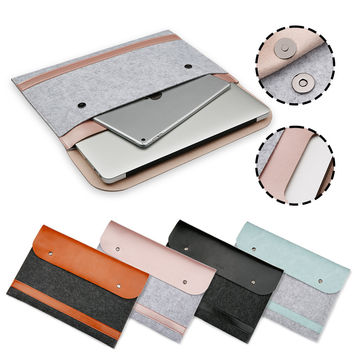 Felt&PU Leather Laptop Bag Ultra Slim Sleeve Case Pouch Pocket Cover Carry Envelope Bag For Macbook Air Pro  Retina 11 12 13 15