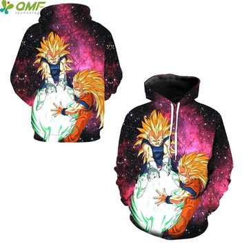 Goku Kaioken Kamehameha 3d Print Skateboarding Hoodies Running Sweatshirts Dragon Ball Z Vegeta Super Saiyan Hoody Hooded Tops