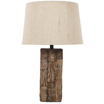 L327004 Selemah Wood Table Lamp (1/CN) - Light Brown - Free Shipping!