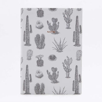 Cactus Print Linen Notebook - Urban Outfitters