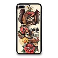 OWL STEAMPUNK ILLUMINATI TATTOO iPhone 4/4S 5/5S/SE 5C 6/6S 7 8 Plus X Case