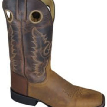 Smoky Mountain Mens Marshall Square Toe Brown Boots