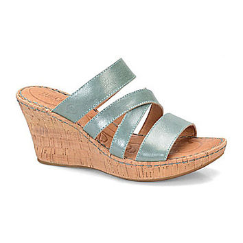 Born Zemora Wedge Sandals - Natural