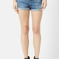 Women's Topshop Moto 'Rosa' Cuffed Denim Shorts