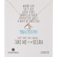 Dogeared Take Me to the Ocean Stingray Necklace - Silver