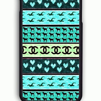 iPhone 6 Case - Rubber (TPU) Cover with red hollister seagulls chanel sign hearts stripes Rubber Case Design