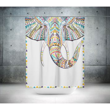 Mandala Elephant Shower Curtain