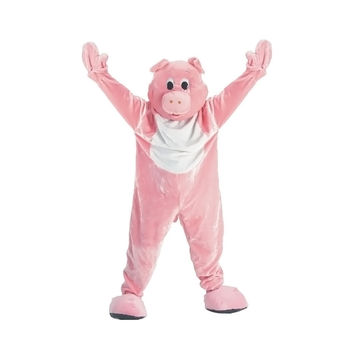 Adult Pig Mascot Costume Set - X-Large