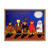 Renie Britenbucher Six Trick Or Treaters Rectangular Tray