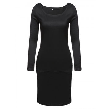 New Fashion Women Long Sleeve Casual Pullover Sweatshirt Dress
