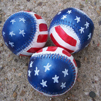 Hand Painted Baseballs // American Flag // Americana // Patriotic // 4th of July // Independence Day // Sports // Red White & Blue