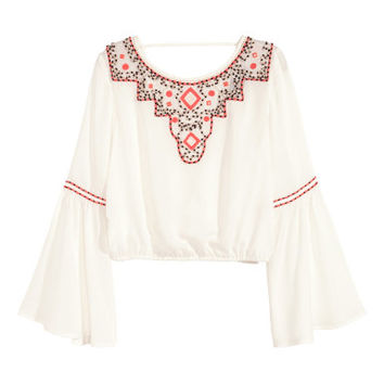 H&M Embroidered Bouse $49.99