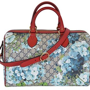 Gucci Women's GG Supreme BLOOMS Convertible Boston Bag  Gucci bag