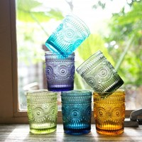 *Colorful Lowball Glasses - 6 Colors*