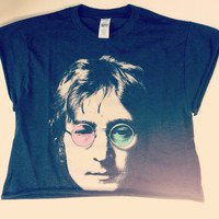 John Lennon Crop Shirt