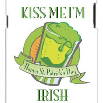 St. Patrick's Day Kiss Me I'm Irish Happy St. Patty's Day Iphone 5 Quality TPU Soft Rubber Case for Iphone 5 - AT&T Sprint Verizon - White Case