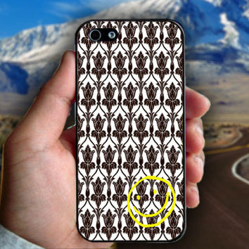 Sherlock Holmers Smile Damask - Print on hard plastic case for iPhone case. Select an option