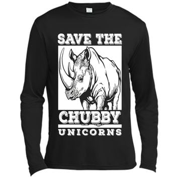 Save the Chubby Unicorns Funny Fat Rhino Animal Gift T-Shirt