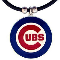 MLB Chicago Cubs Rubber Cord Necklace