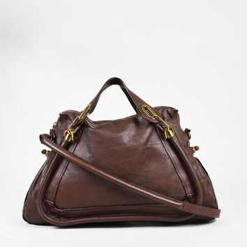 Day-First™ Chloe Coffee Shot Brown Grained Leather Paraty Crossbody Bag