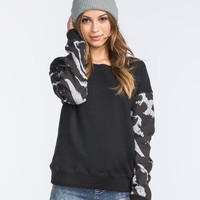 Fox Cheebrah Womens Sweatshirt Black  In Sizes