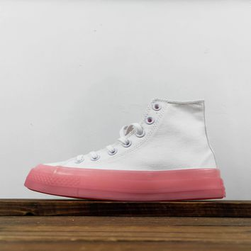 Kuyou Fa19630 Converse Chuck Taylor 1970s Jelly Shoes Pink High Top Canvas Shoes
