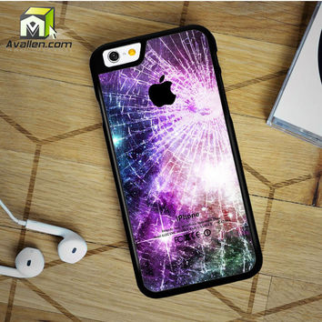 Galaxy Nebula Cracked Out Broken Glass iPhone 6 Plus Case by Avallen