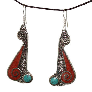long coral Earring
