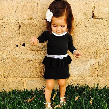 2016 fall sweater knit dress baby girls baby dress party dress cute baby girl clothings