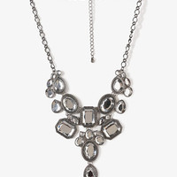 Pressed Bejeweled Bib Necklace