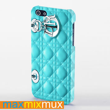 Blue Dior iPhone 4/4S, 5/5S, 5C Series Full Wrap Case