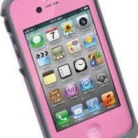 LifeProof FRE iPhone 4/4s Waterproof Case - Retail Packaging - PINK/GREY