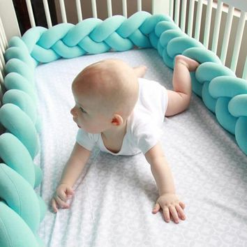 2M 3M Baby Bed Bumper Knotted Cotton Braid Pillow Cushions Kids Room Decoration Stuffed Plush Toys Bed Around Protection