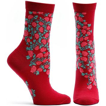 Blooming Filigree Sock
