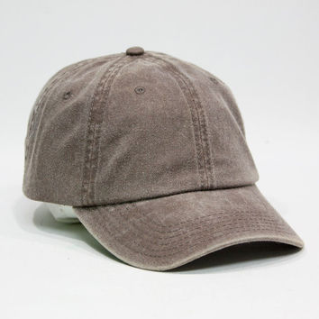 Cute Plain Washed Cotton Twill Baseball cotton cap with Adjustable Velcro