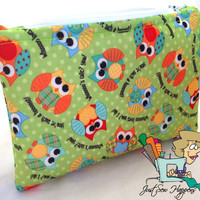 Owls Wet Bag, Makeup Bag Cosmetic Bag Gadget Bag