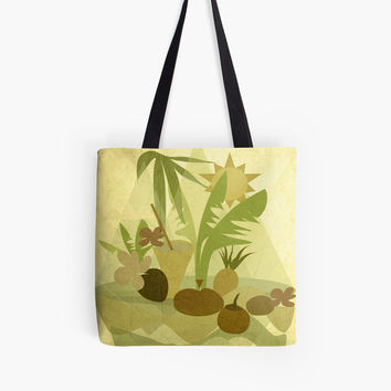 'TROPICAL VIBES #RBSTAYCAY #redbubble' Tote Bag by mirimo