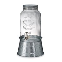 Artland® Oasis 1.5-Gallon Beverage Server with Galvanized Steel Stand