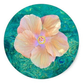 Hibiscus on water sticker