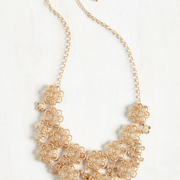 Gold Petal Recipient Necklace | Mod Retro Vintage Necklaces | ModCloth.com