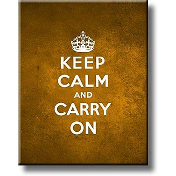 Keep Calm and Carry On Picture on Acrylic , Wall Art Décor, Ready to Hang