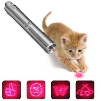 Multi-pattern Funny Pet Toys Interactive Cat Chaser Toy LED Light USB Rechargable Cat Training Tools Pet Products