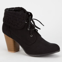 Qupid Sake Womens Booties Black  In Sizes