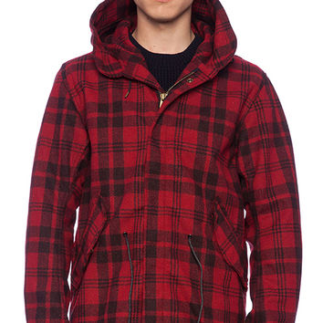 Scotch & Soda Wool Parka in Red