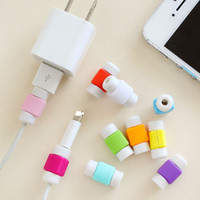 1pack / 10pcs Protector Saver Cover for Apple iPhone USB Charger Cable