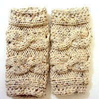 Leg Warmers Extra Thick Unique Legwarmers Hand Knitted Boot Socks Boot Toppers Legwarmers Women Men Clothing Accessories  FREE SHIPMENT