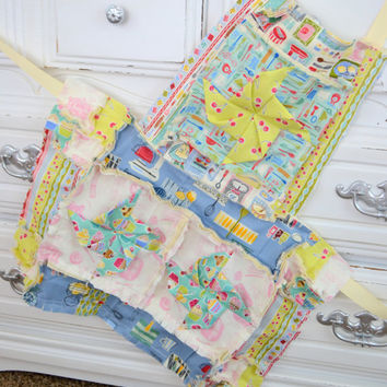 Rag Apron PATTERN with Pinwheel for Girls available for Instant Download, PDF