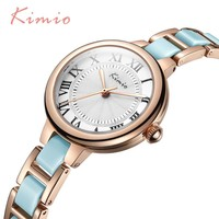 2017 Hot Sale Famous Brand Kimio Luxury Watch Women Small Quartz-watch Ceramic Band Fashion Ladies Bracelet Watches Female Clock
