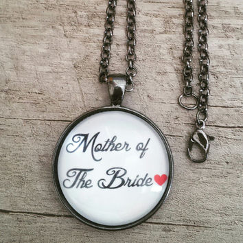 Mother of the bride wedding gift necklace