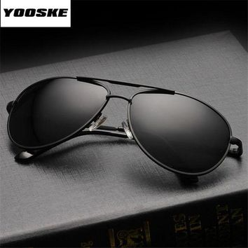 LMFLD1 YOOSKE Brand Polarized Sunglasses Aviation Men Women Driving Driver Sun Glasses Vintage Rectangle Anti-UV Goggles Eyewear